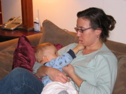 My son and I breastfeeding; pre-smart phone days. It's my only picture of us doing so!